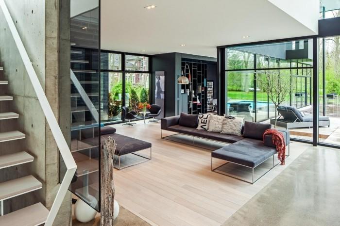 moderne sofas minimalistisches design gestell