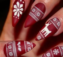 Nageldesign zu Weihnachten: 101 inspirierende Fingernägel Ideen