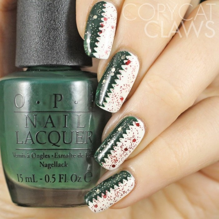 nageldesign ideen winter weihnachtliche naegeldesign