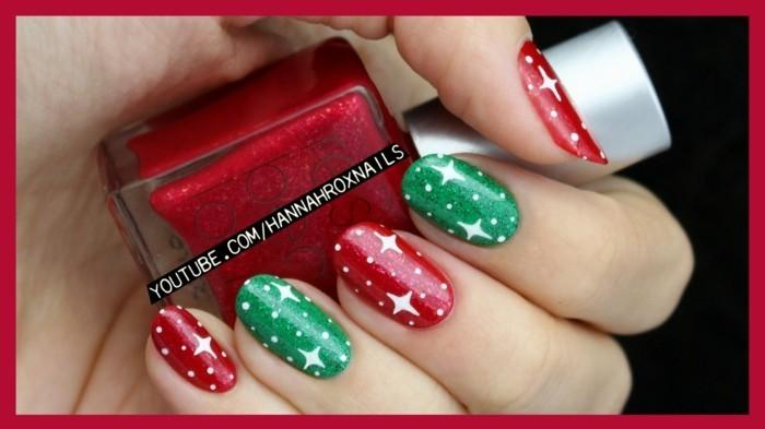 nageldesign weihnachten bilder weihnachtliche naegel