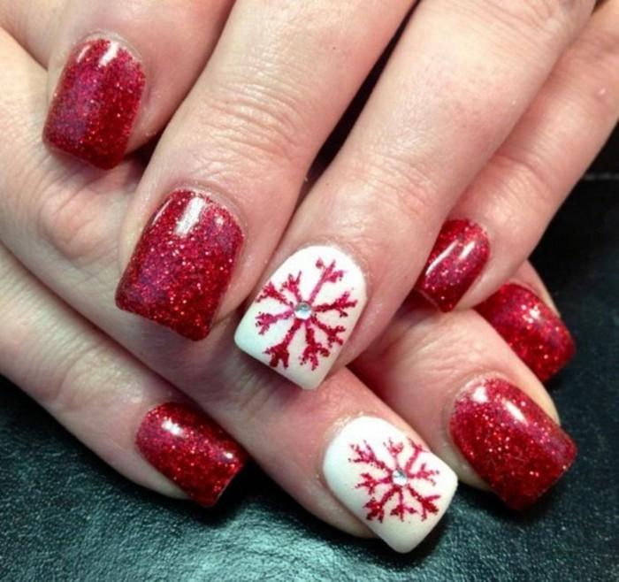 nageldesign weihnachten muster nailart muster