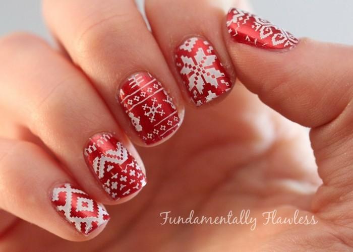 nageldesign weihnachten weihnachtliche naegel motive