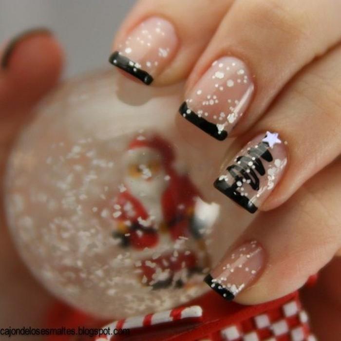nageldesign weihnachten weihnachtliche naegel muster