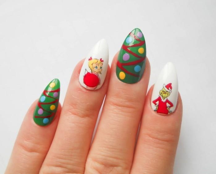 nageldesign weihnachten weihnachtliche naegel