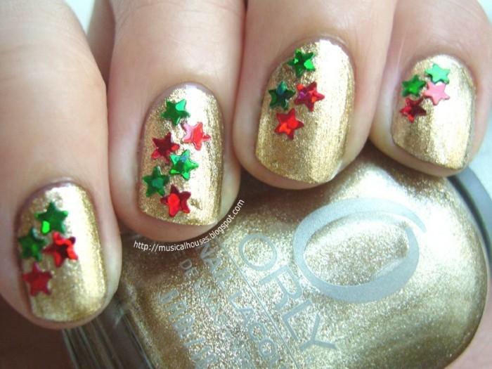 nageldesign weihnachtsmotive weihnachtliche fingernaegel bilder