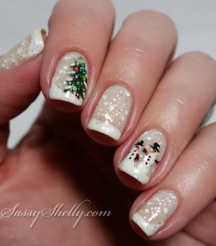 nageldesign weihnachtsmotive weihnachtliche naegel selber machen