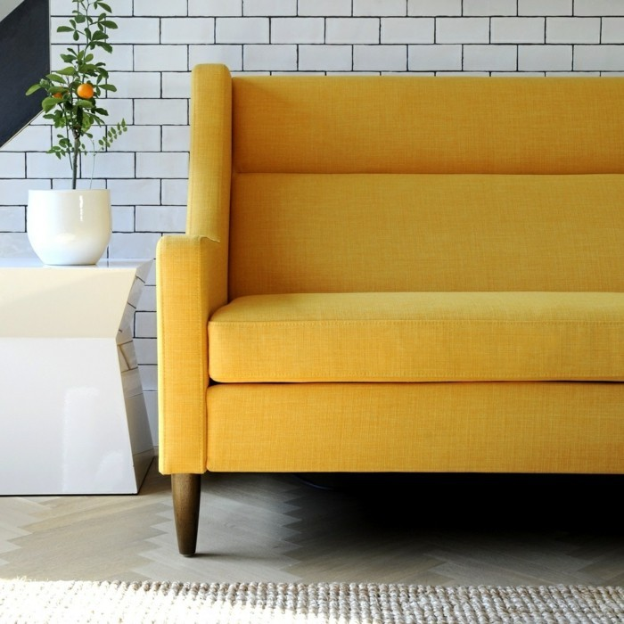 schoene sofas gelb beine wohnideen wohnzimmer