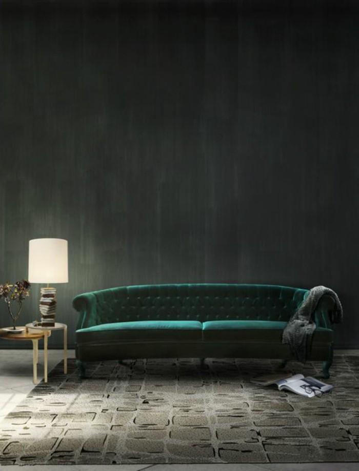 schoene sofas gruenes design eleganter teppich