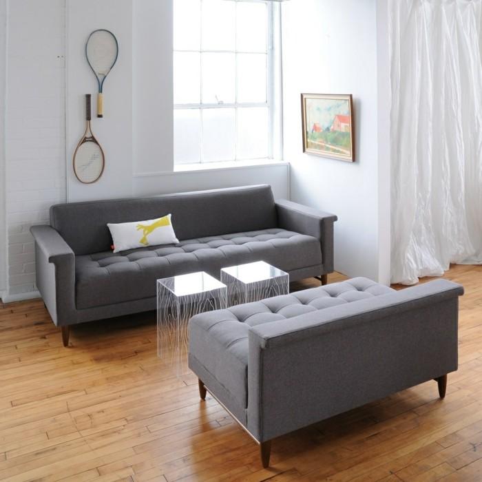 schoene sofas graue sofas moderne beistelltische wanddeko
