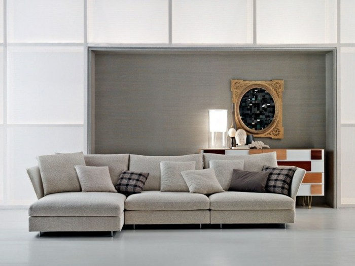 schoene sofas modernes wohnzimmer gestalten dekokissen