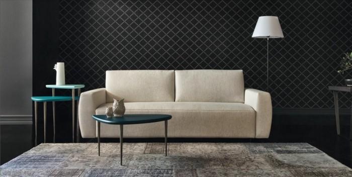 schoene sofas vintage teppich beistelltische cooles wanddesign
