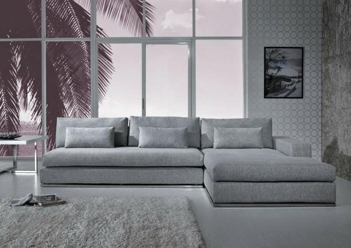 schoene sofas graues sofa ecksofa teppich grosse fenster