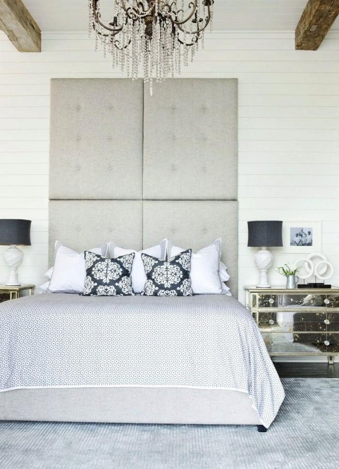 schlafzimmergestaltung hellgrauer teppich helle bettwaesche