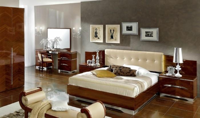 schlafzimmergestaltung schoenes bettkopfteil schlafzimmerbank