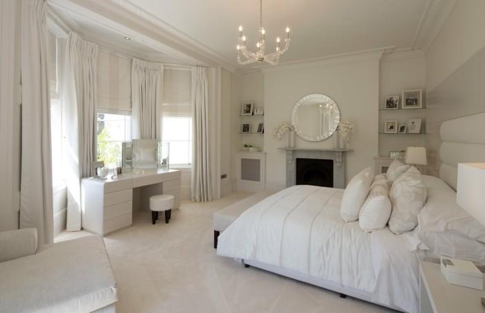fensterverdunkelung schlafzimmer teppichboden gardinen weiß