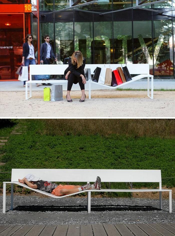 sitzbaenke kreatives design elastische sitzbank