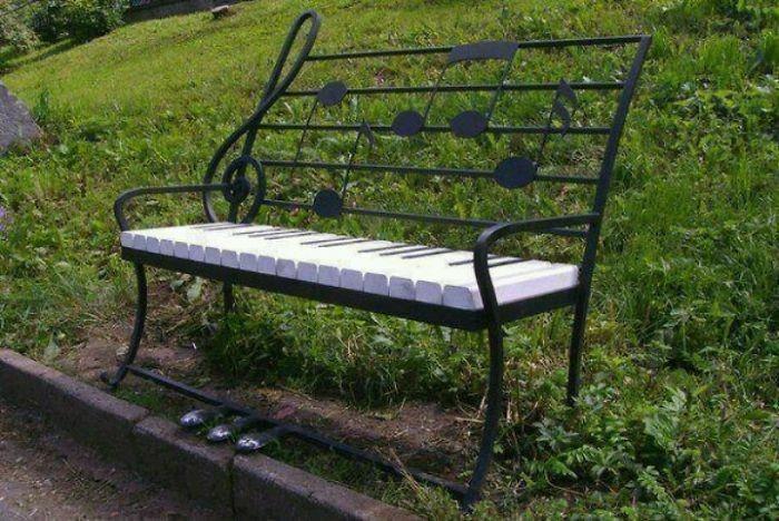 sitzbaenke kreatives design musikalisch klavier noten