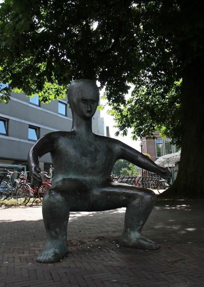 sitzbank auf dem schoss amersfoort holland henk visch