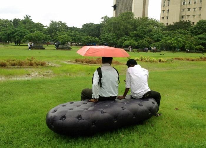 sitzbank ausgefallene stadtbank sammelt aufbewhrt regen