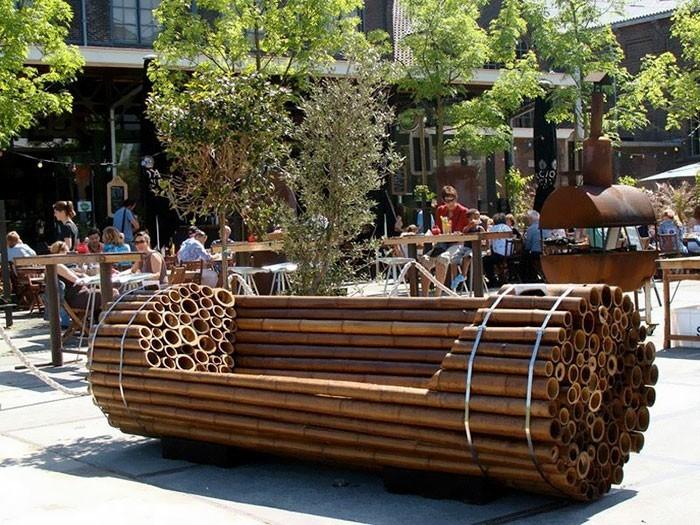 sitzbank bambus stadtbank new york