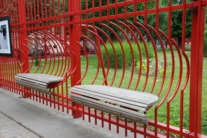 sitzbank jean baptiste lebas park frankreich