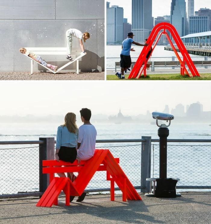 sitzbank kreative stadtbaenke modifiziert new york