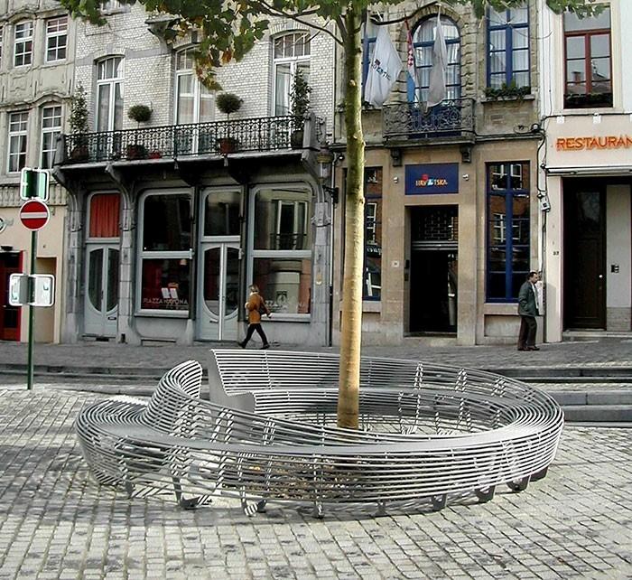 sitzbank kreatives design rund bruxelles