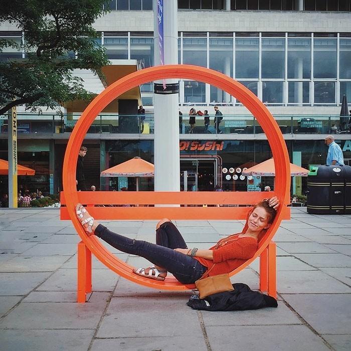 sitzbank runde stadtbank london