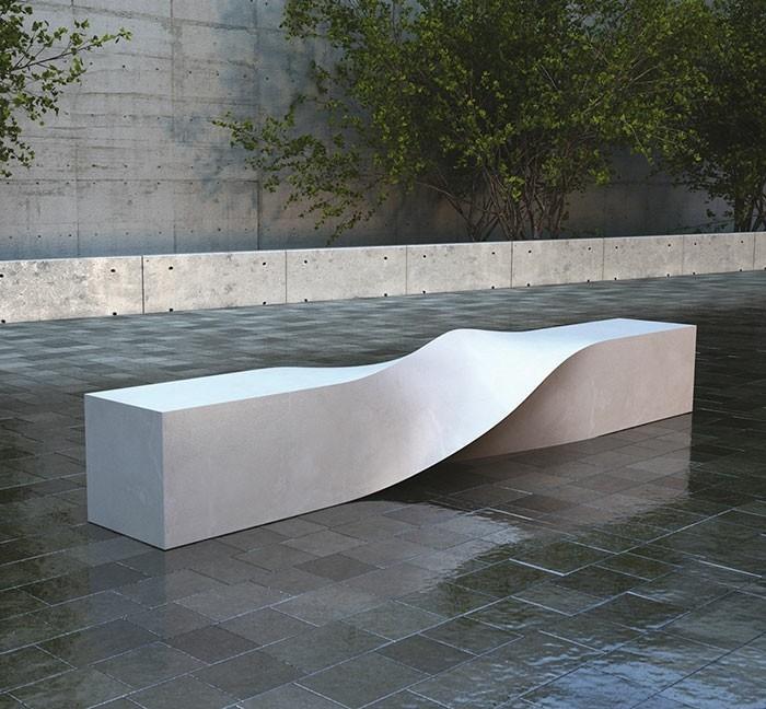 sitzbank verwirbelt modernes design