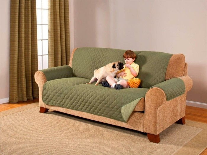 sofa bezug gruen haustiere kinder schutz