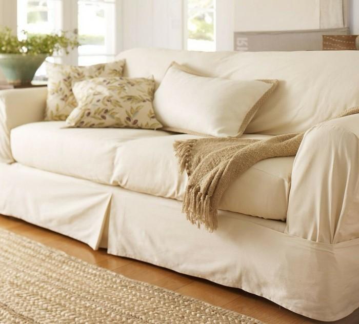 sofa bezug schoene wohnideen wohnzimmer sisalteppich pflanzen