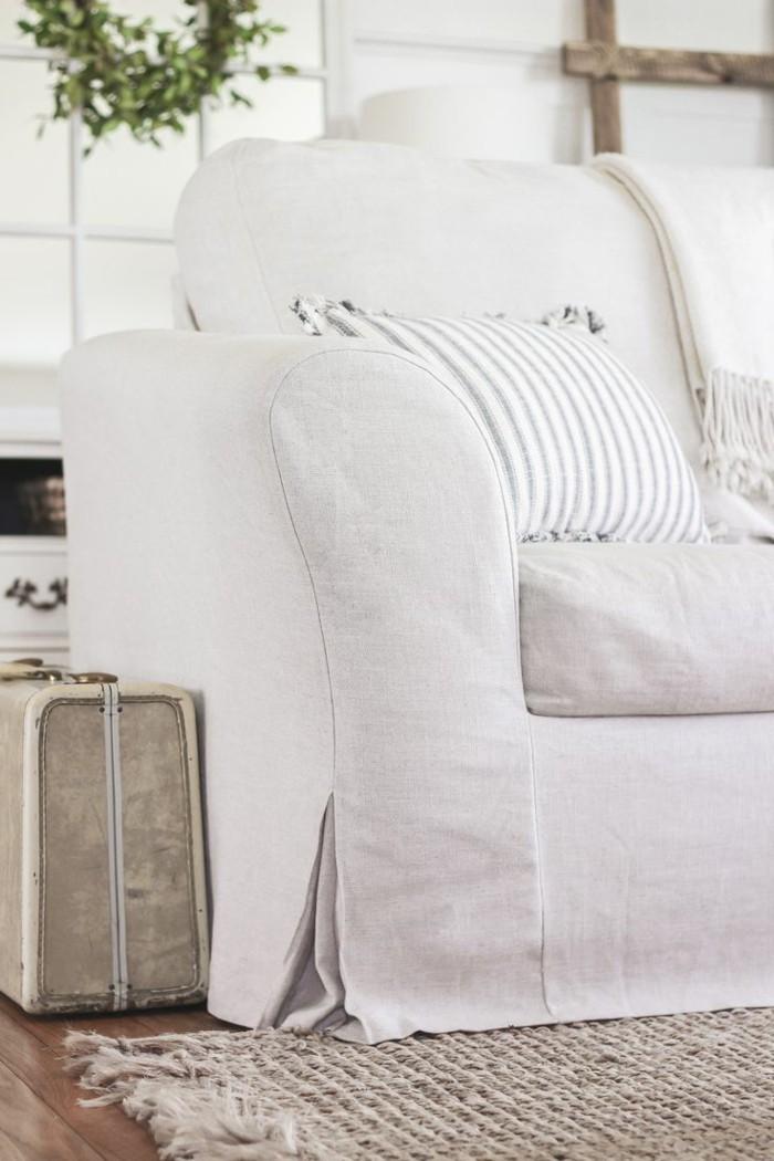 sofa bezug weiss elegant wohnzimmer einrichten