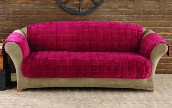 sofabezug tiere schick patchwork rot polster auflagen jeans canvas lila