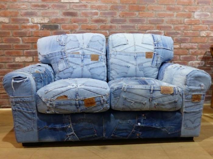 sofabezug tiere schick patchwork rot polster auflagen jeans