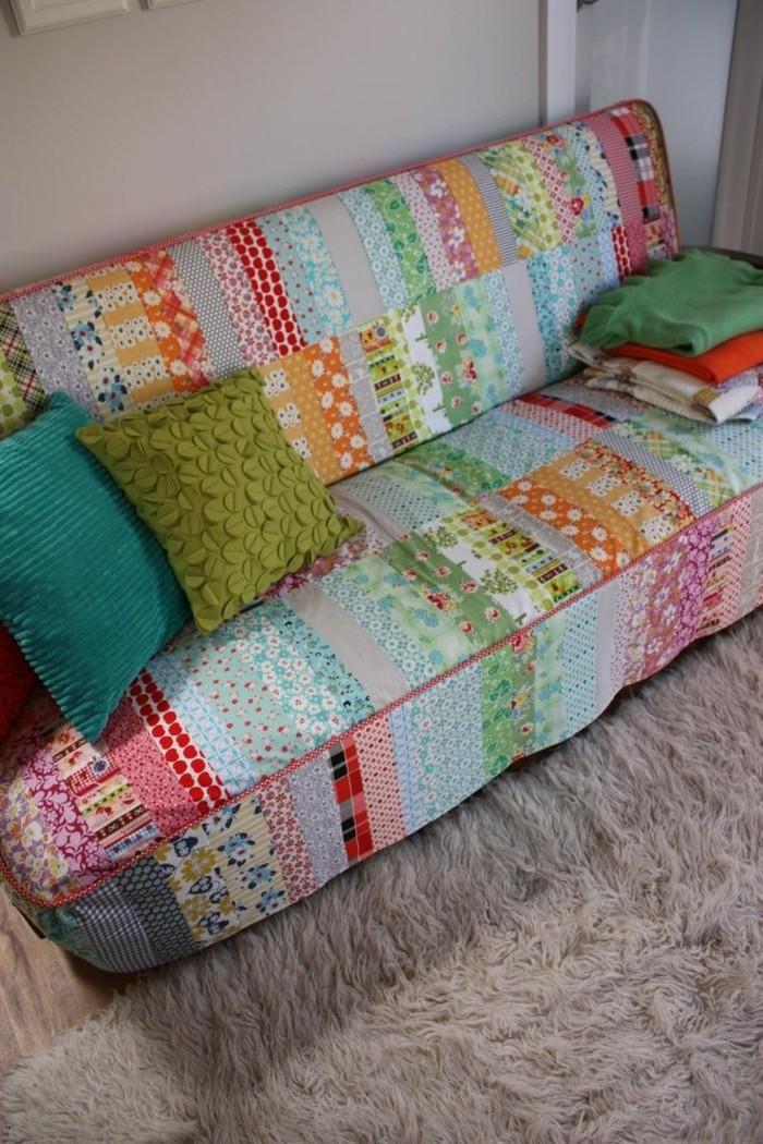 sofabezug tiere schick patchwork