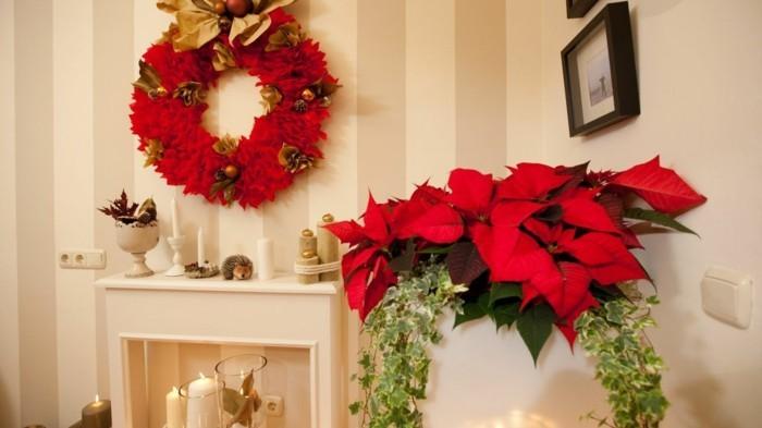 weihnachtsdeko diy ideen weihnachtsstern adventskranz