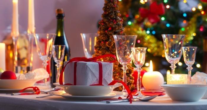 weihnachtsdeko diy tischdekoration geschenkiden kerzen