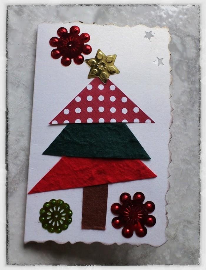weihnachtskarten basteln diy geschenkpapier gliter aufkleber schneekristalle sterne