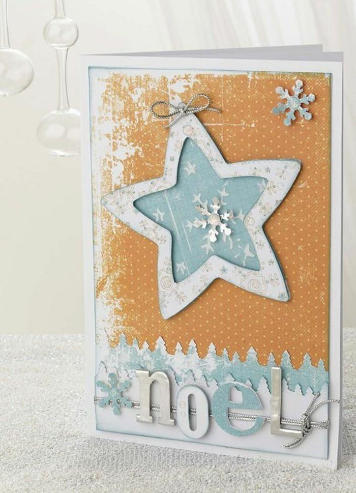weihnachtskarten basteln diy geschenkpapier stern schneekristalle