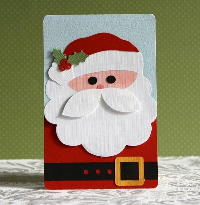 weihnachtskarten basteln diy geschenkpapier weihnachtsmann