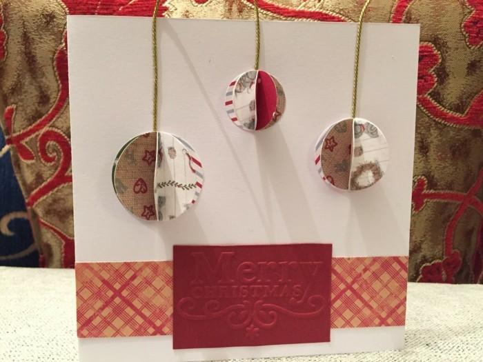 weihnachtskarten basteln diy stoff textilien weihnachtsbaumschmuck