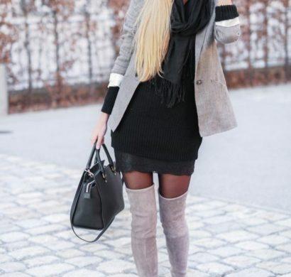 lange winterkleid kombinieren