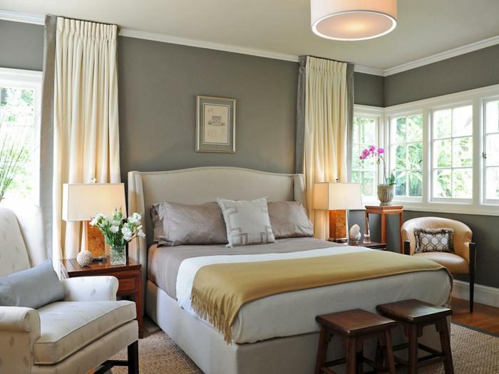 fensterverdunkelung schlafzimmer wohnideen schlafzimmer elegantes design gardinen creme
