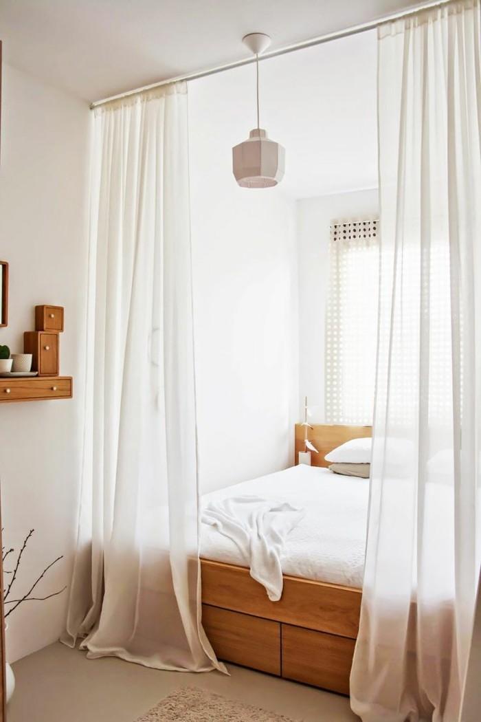 wohnideen schlafzimmer luftige gardinen kleines schlafzimmer