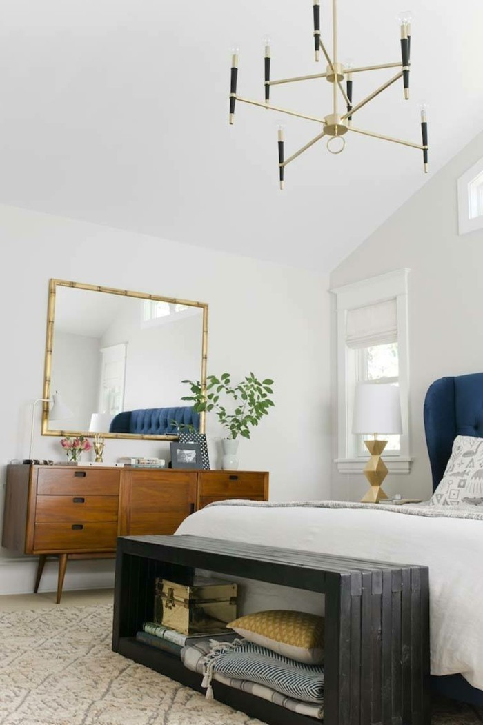 wohnideen schlafzimmer retro stil einrichtung schlafzimmerbank