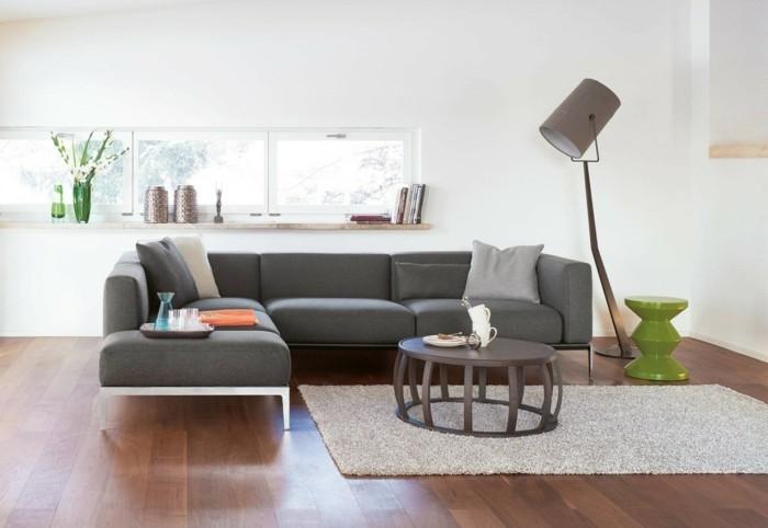 Moderne sofas und ihre richtigen ma e for Graues ecksofa