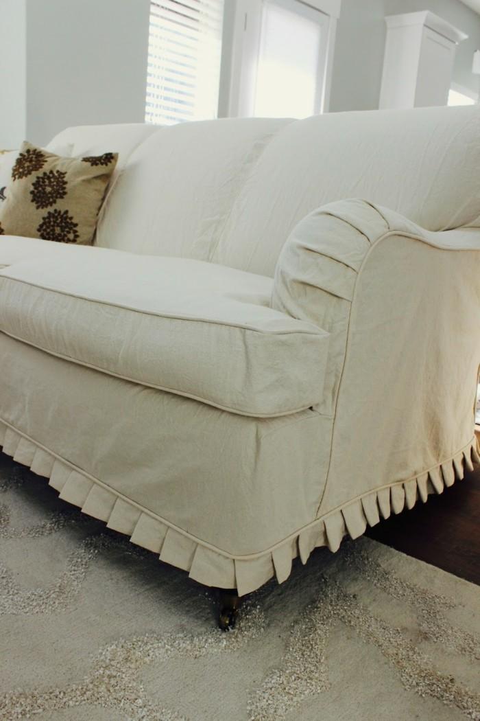 wohnideen wohnzimmer sofabezug creme helles wohnzimmer