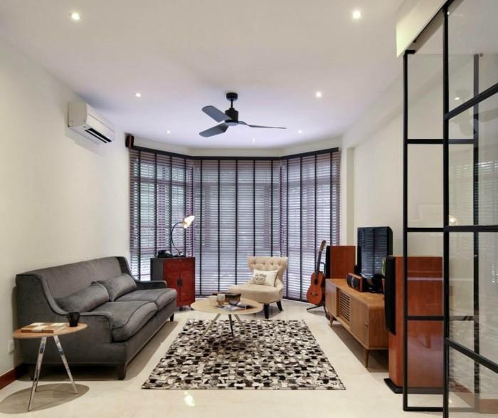wohnzimmergestaltung kleines wohnzimmer cooler teppich