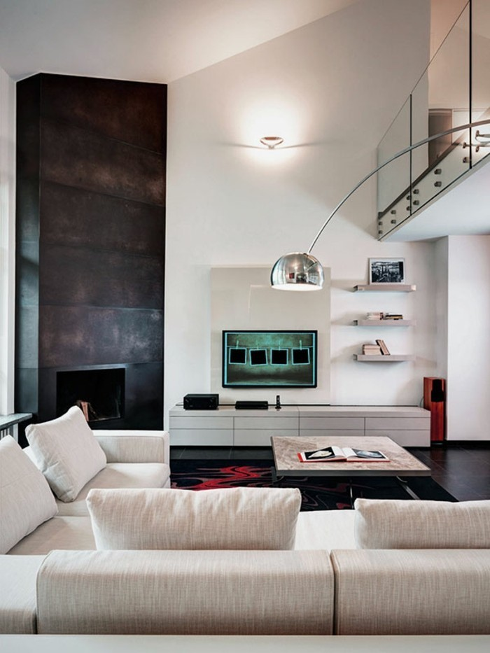 wohnzimmergestaltung modernes wohnzimmer helle moebel dunkle bodengestaltung