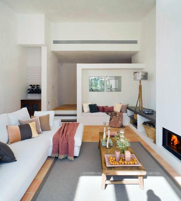 wohnzimmergestaltung 34 erfrischende ideen f r den. Black Bedroom Furniture Sets. Home Design Ideas